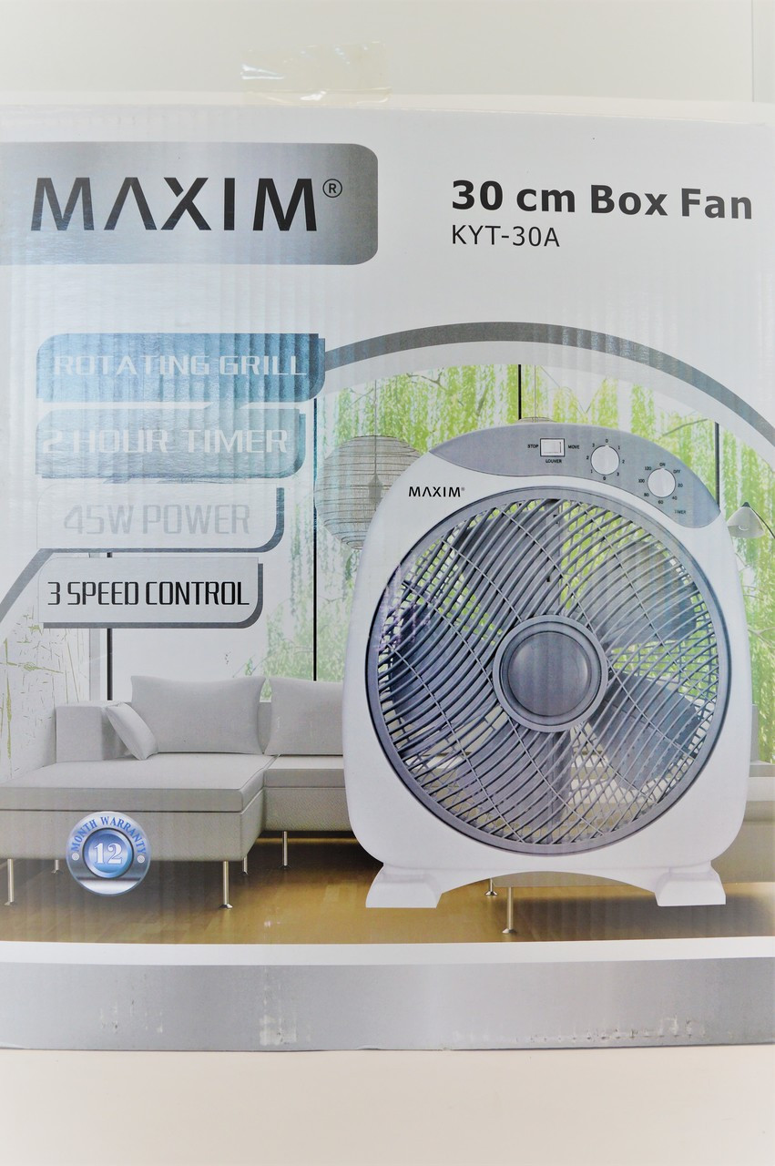 Maxim 30cm Box Fan