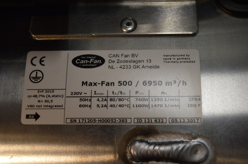 Can Max 500mm Fan