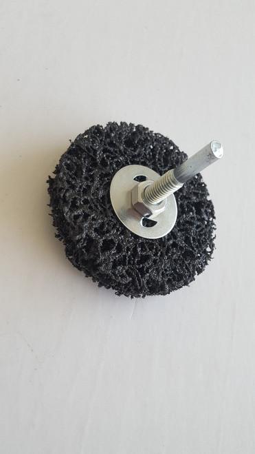 "Gemtex Black-General Purpose 1/4"" Spindle Mounted Strip Away Disc"