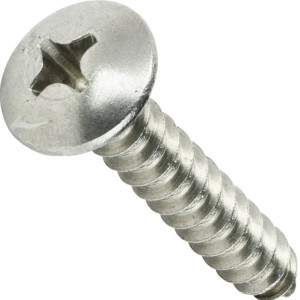 #14 x 2-in Truss Head Screw, grade 304 SS - (Package of 10)
