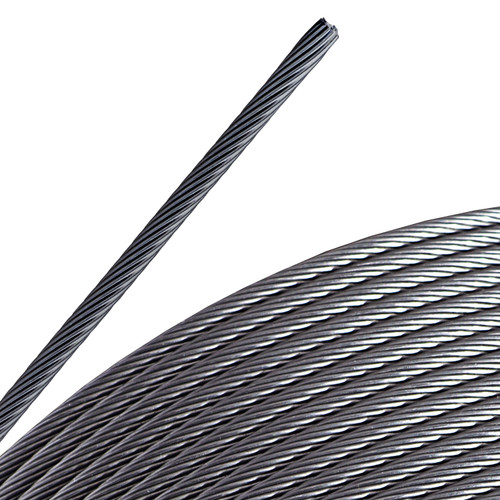 1/8-inch, 1x19, Electropolished Stainless Steel Cable, grade 316 SS (100-feet)