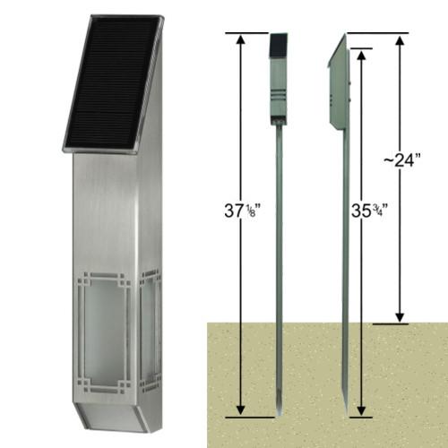 StarLight & Stake Package - Designer Series 'Lantern' - Solar Powered LED Accent Light
