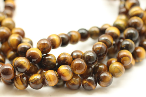 Tiger's Eye, Brown, Natural, Smooth Round