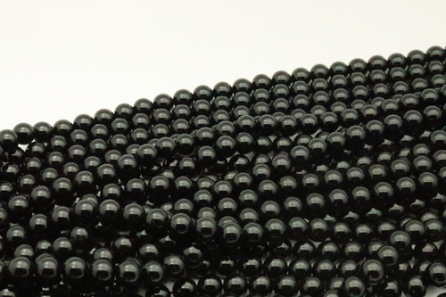 Tourmaline, Black, Natural, Smooth Round