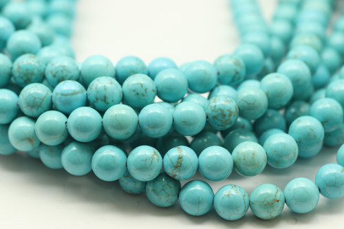 Turquoise, Chinese, Stabilized, Smooth Round