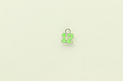 Green Enamel Charm 10x8mm