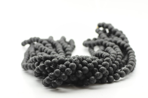 Lava, Black, Dyed 8mm Round