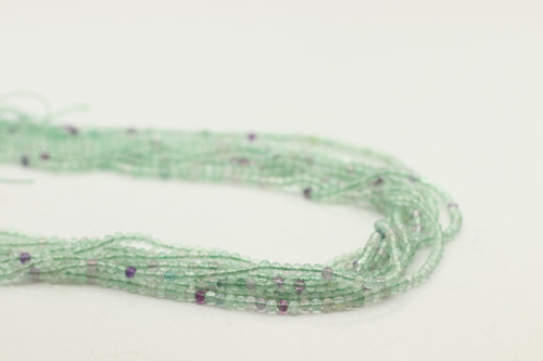 Fluorite, Green Mixed 3mm Faceted Strand