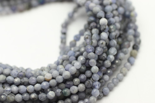 2mm Tanzanite, Natural, Faceted Strand