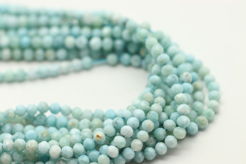 3mm Larimar, Natural, Faceted Strand