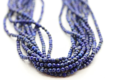 4mm Lapis, Natural, Faceted Round