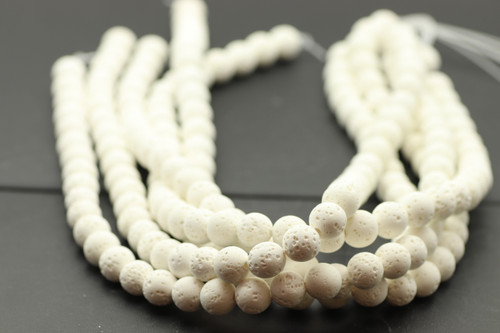 Lava, White, Dyed 10mm Round