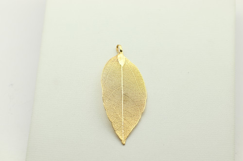 LEAF, Gold Plated, 80x38x1mm, sold per piece