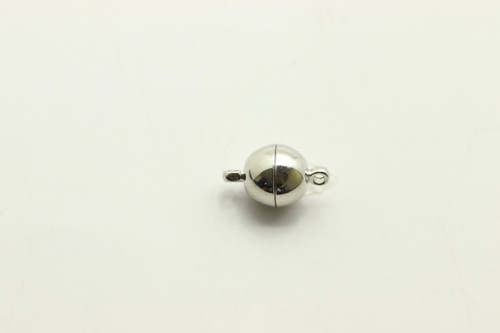 MAGNET, Clasp, Silver Plated (metal alloy), 10mm, 3 per bag