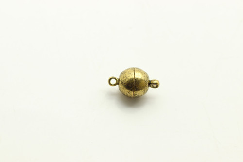 MAGNETIC, Clasp,  Antique Gold Plated (metal alloy), 10mm, 3 per bag