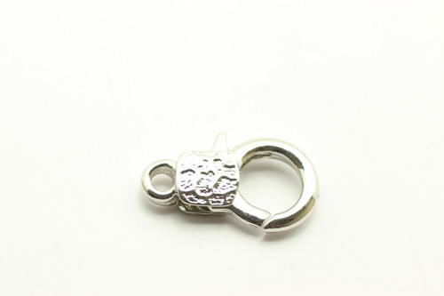 LOBSTER, Clasp, Silver Plated (metal alloy), 30x18x6mm, 3 per bag