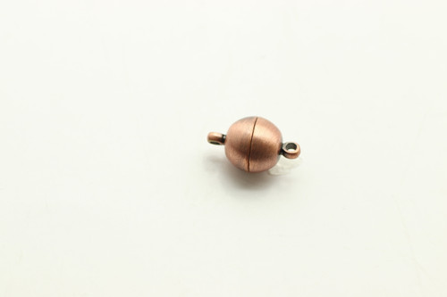 MAGNETIC, Clasp,  Antique Copper Plated (metal alloy), 10mm, 3 per bag