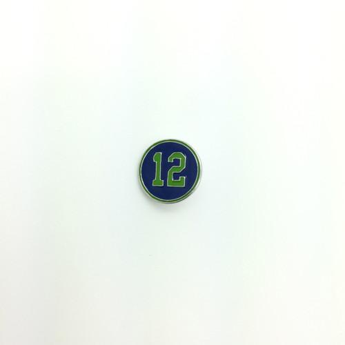 18mm Round Blue & Green #12 Button
