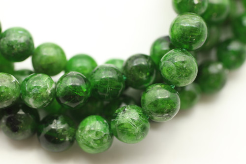 Chrome Diopside, Natural, 6mm Smooth Round, Limited Stock!
