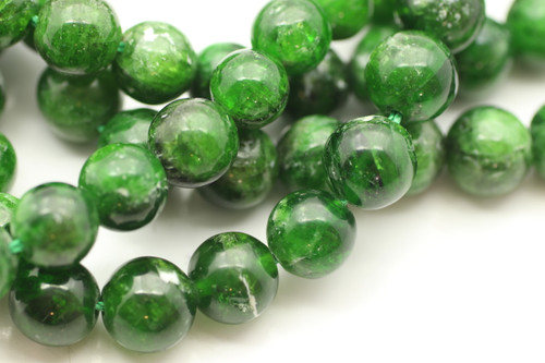 Chrome Diopside, Natural, 8mm Smooth Round, Limited Stock!