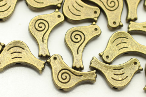 BIRD, 15x7x3mm, Antique Bronze Plated (metal alloy), approx 22 per bag
