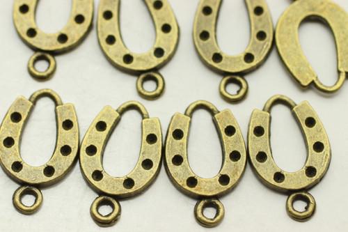 HORSESHOE, 28x12x2mm, Antique Bronze Plated (metal alloy), approx 28 per bag