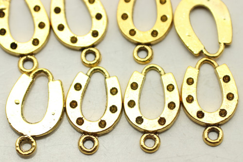 HORSESHOE, 28x12x2mm, Antique Gold Plated (metal alloy), approx 28 per bag