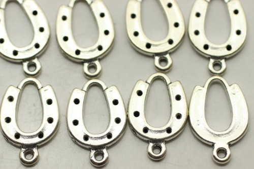 HORSESHOE, 28x12x2mm, Antique Silver Plated (metal alloy), approx 28 per bag