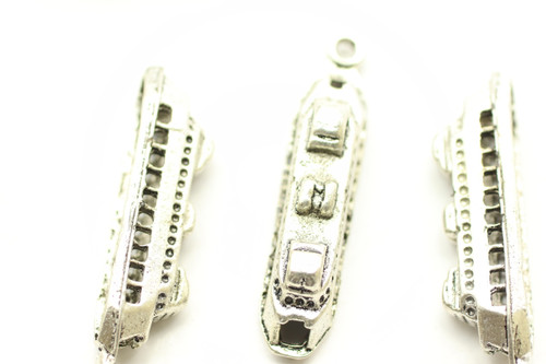 Ferry, Double Sided, 30x6x6mm, Antique Silver Plated (Metal Alloy), approx 10 per bag