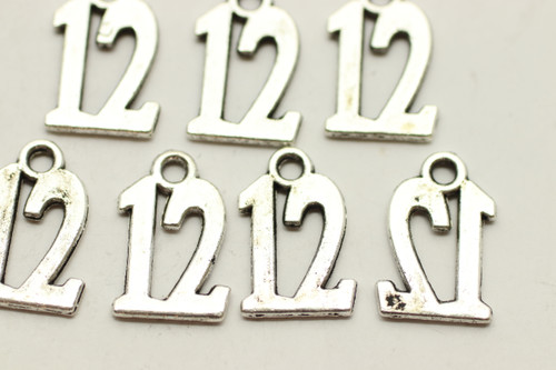 #12, Drop, Average Quality, 15x9x1mm, Antique Silver Plated (Metal Alloy), approx 46 per bag