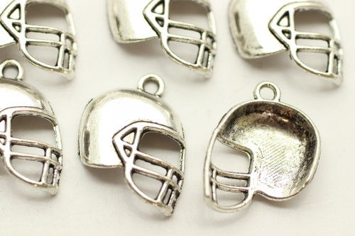 Helmet, Domed, 19x15x4mm, Antique Silver Plated (Metal Alloy), approx 15 per bag