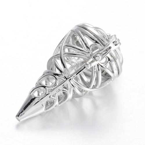 Cage Cone Filigree, Silver Pendant 37x20mm