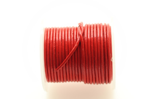 Leather Red 1.5mm Round 10 meters