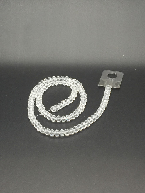 6x5mm Crystal Faceted Rondelle