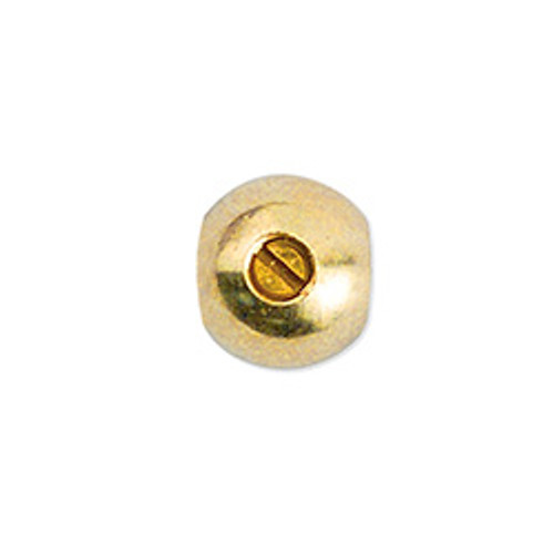 Scrimp Finding, Round, 4.5 mm (.177 in), Gold Plated, 10 pc