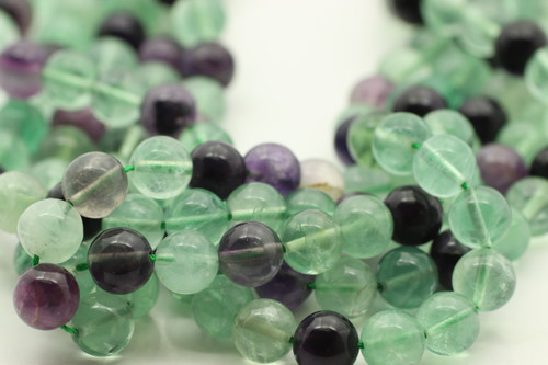 Fluorite, Mixed Colors, Natural, Smooth Round