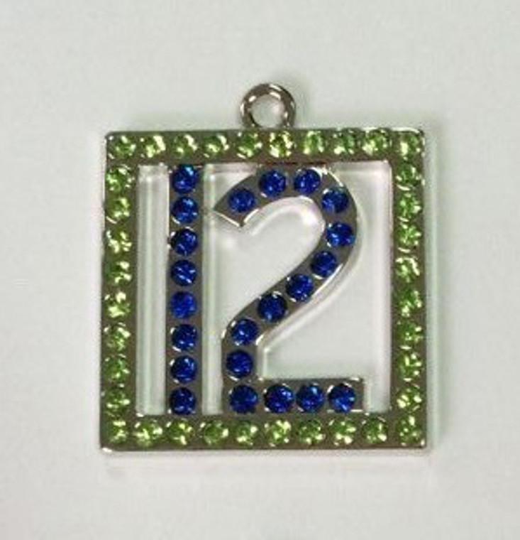 #12 Crystal Pendant 25x25mm
