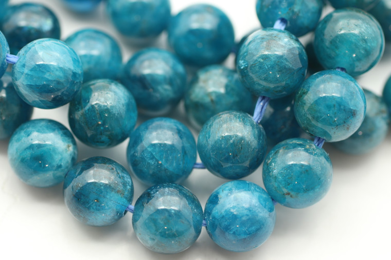 Neon Apatite, Natural, 8mm Smooth Round, Limited Stock!