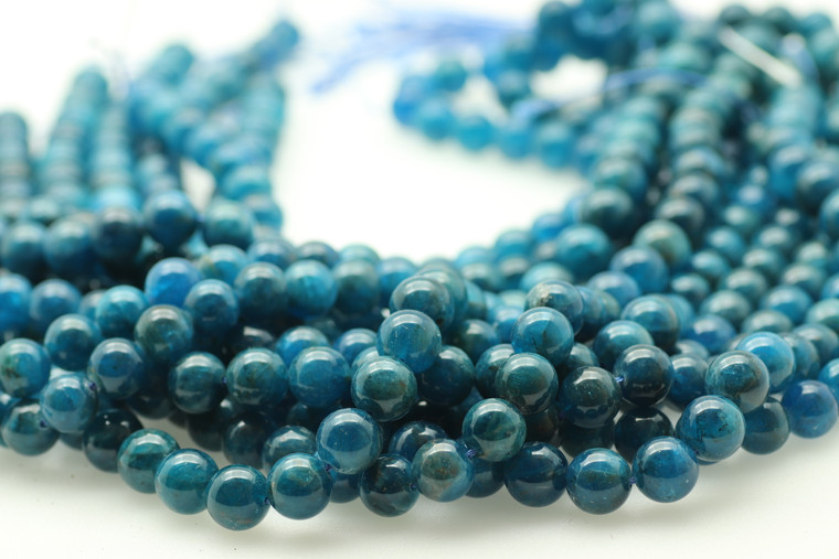 Neon Apatite, Natural, 10mm Smooth Round, Limited Stock!