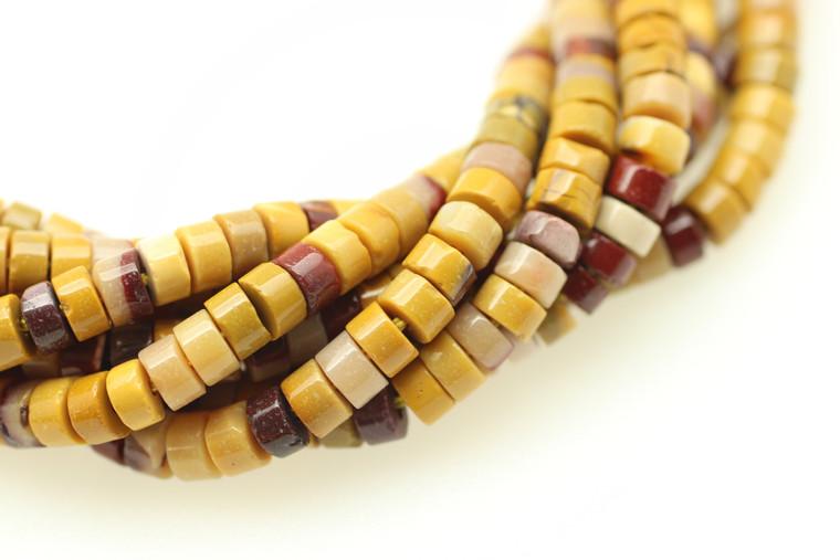 Mookaite, Jasper,  Natural, Heishi, 4x2mm