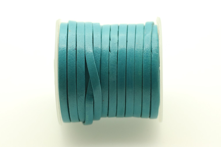 Leather Turquoise 3mm Flat 32 Feet