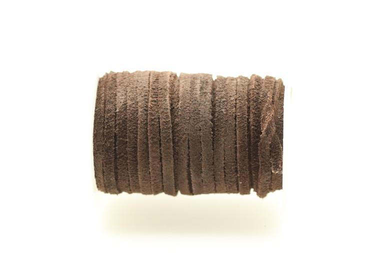 Suede Dark Brown 5mm Flat 32 Feet