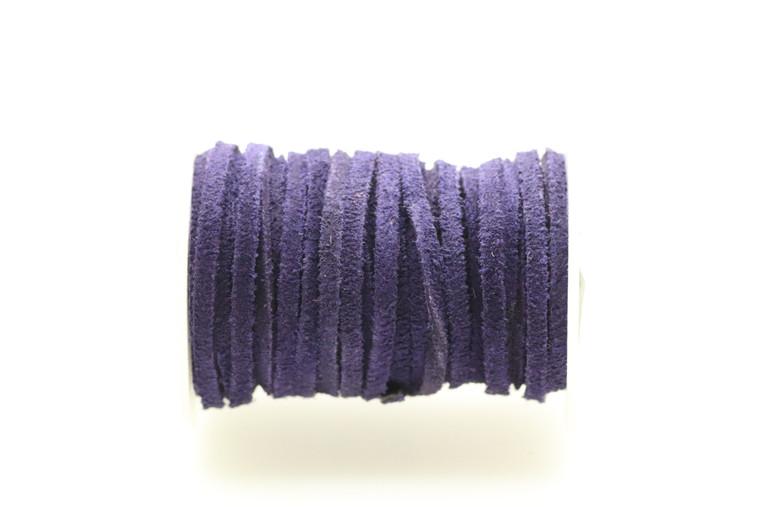 Suede Purple 3mm Flat 32 Feet