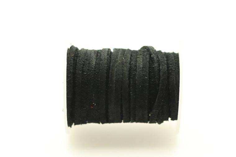 Suede Black 3mm Flat 32 Feet