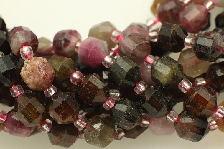 Tourmaline, Mixed, Natural, Faceted Off Round, 6mm