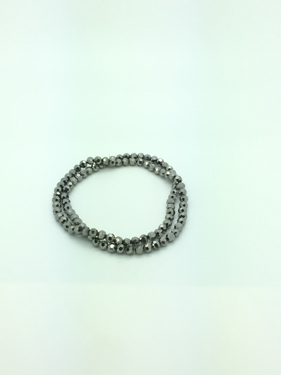 6mm Silver Faceted Round