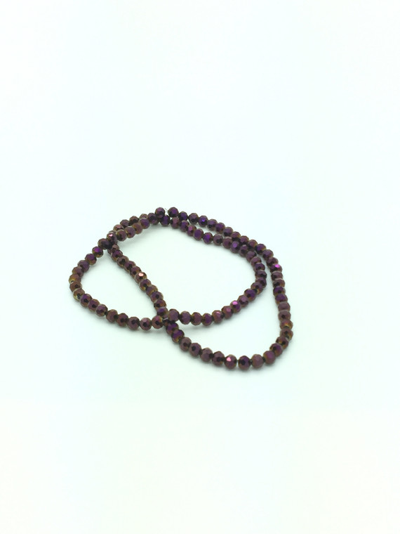 6mm Purple Flare Faceted Round