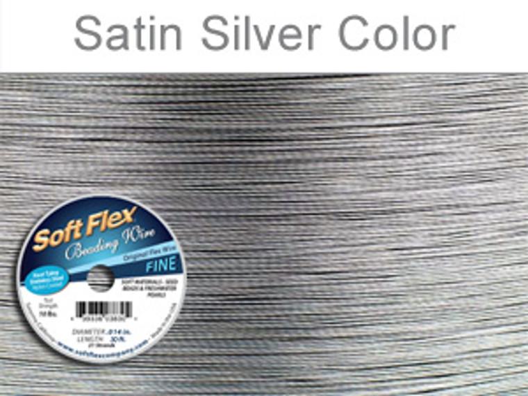 SOFT FLEX FINE WIRE .014 DIA. 30 FT. 21 STRAND ORIGINAL SATIN SILVER