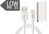Product image for Klik 1.2m Apple Lightning to USB Sync/Charge Cable White 10 Pack | CX Computer Superstore
