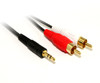 Product image for 1M 3.5MM Plug to 2 x RCA Plug cable | CX Computer Superstore